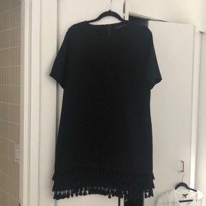 Zara I Black Tassel Dress